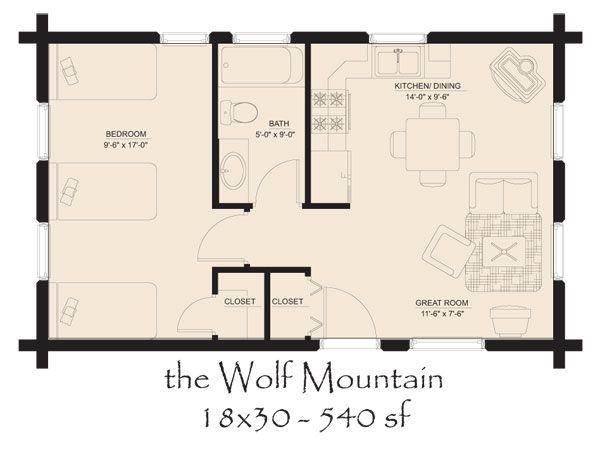 Mountain cabin home plans house design plans for Mountain cabin floor plans