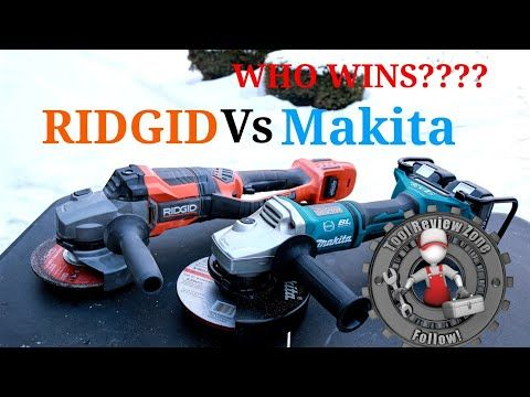 Ridgid Octane 7 Grinder Vs Makita Lxt 36v Tool Duel 6 R88040b Xag12g1 You