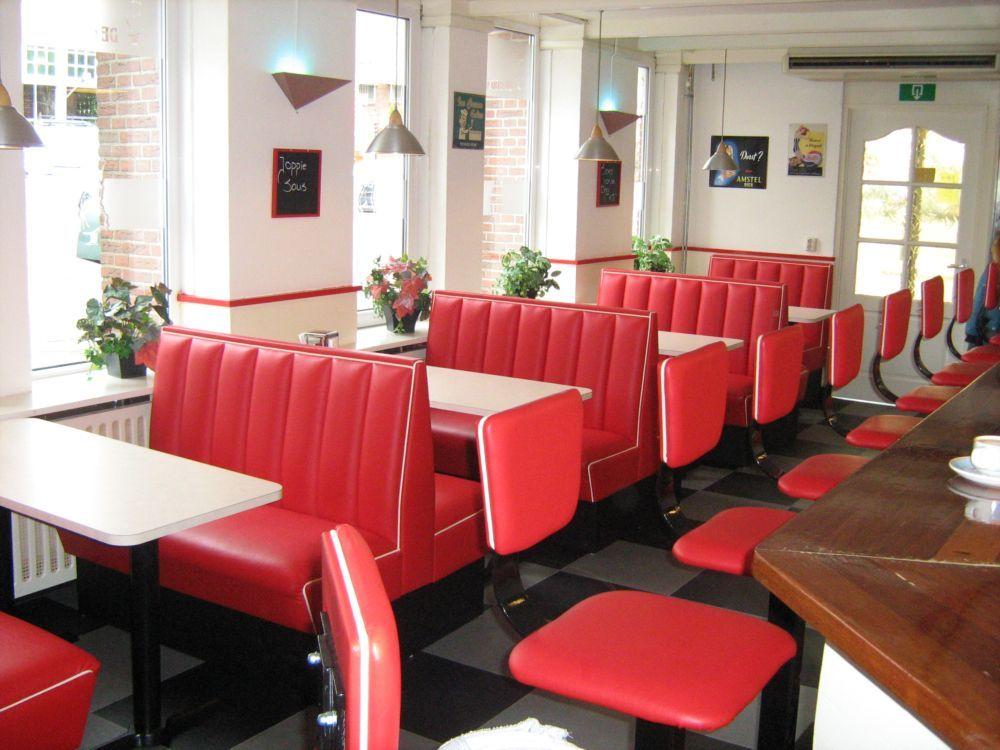 Retro Fifties Sixties American Dinerbank Voor Horeca Restaurant