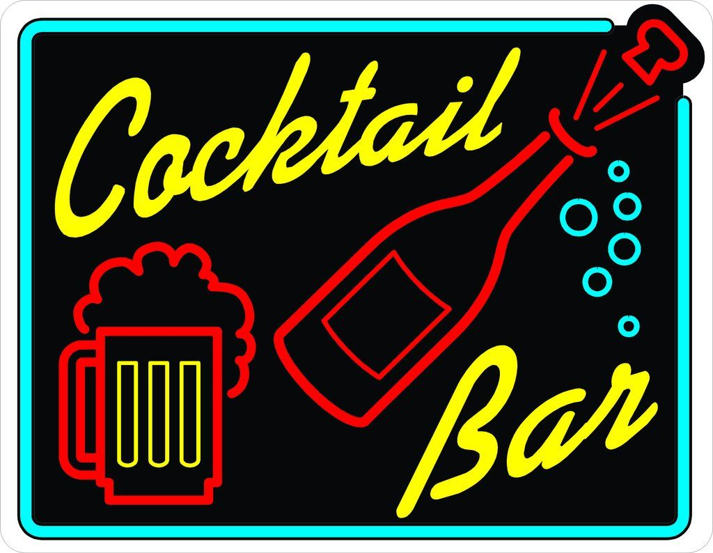 Cocktail bar sign bar signs cocktail bar cocktails sign