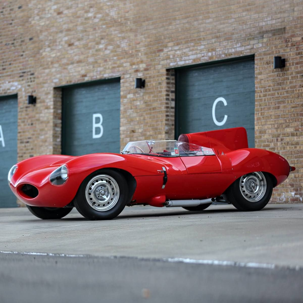 Jaguar Sport Car Red: A Rare 1956 Red Jaguar D-Type Is Going Up For Sale At