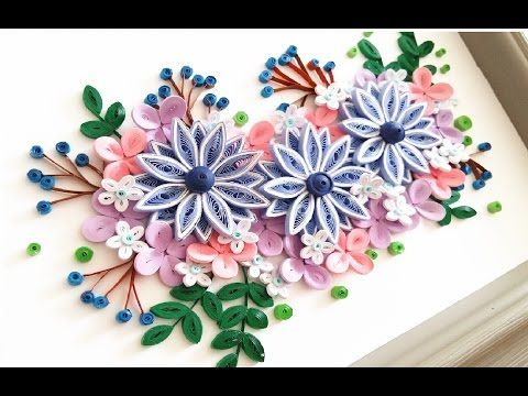 quilling flower decoration series quilling flower learning video 14 youtube