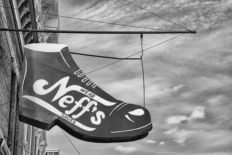 Neff's Shoes, Aurora, IN, April, 2014 Aurora