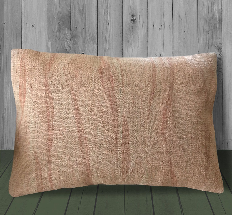 Orange Beige Pillow Sham Cover 16x24 Large Kilim Pillow Lumbar Pillow Cover Throw Pillow Boho Pillow Cushi In 2020 Beige Pillows Kilim Pillows Lumbar Pillow Cover
