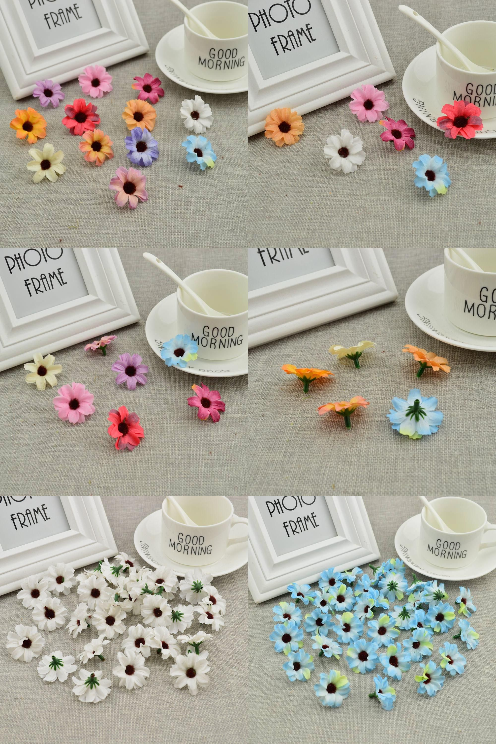 Visit to buy 50pcs silk small daisies cheap artificial flowers vine visit to buy 50pcs silk small daisies cheap artificial flowers vine wedding decoration diy izmirmasajfo