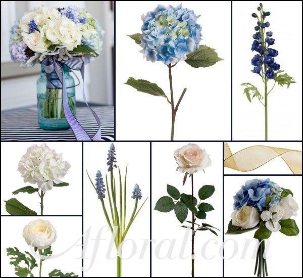 Blue And Cream Wedding Bouquet Aretta S Inspiration Board