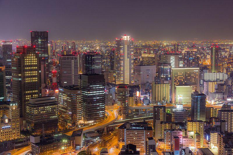 Saturday Night Japan Prefectures Osaka Japan Osaka