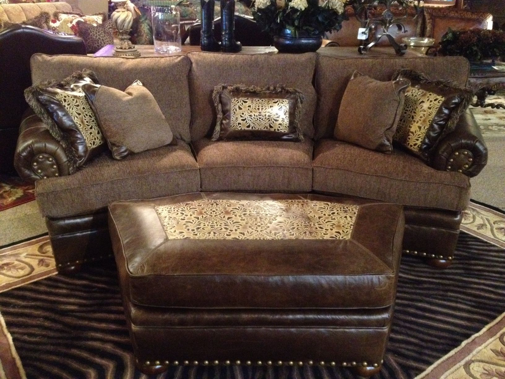 This amazing sofa just displayed on the showroom floor ...