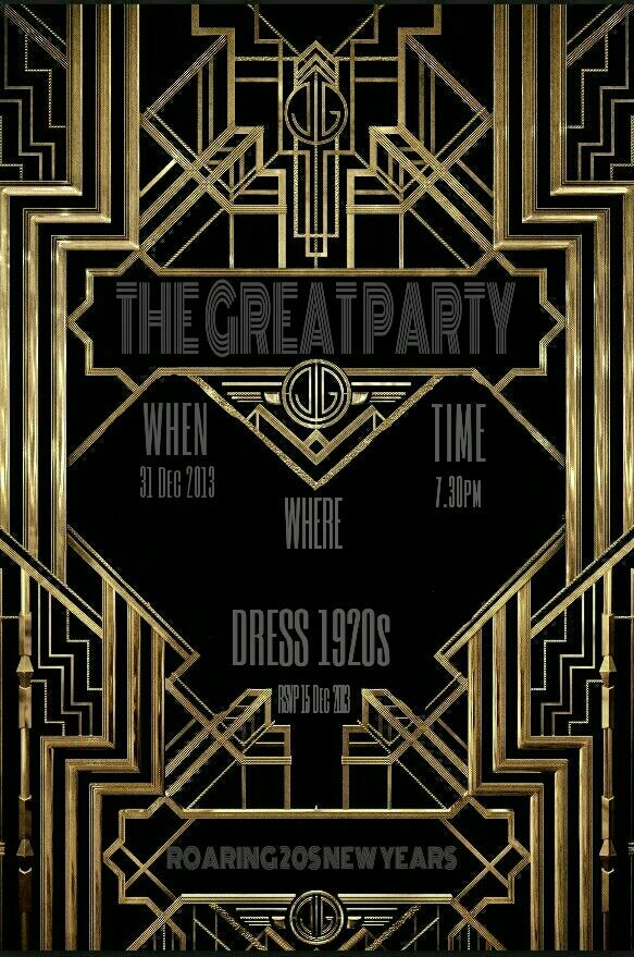 invitation the great gatsby roaring 20s new years eve
