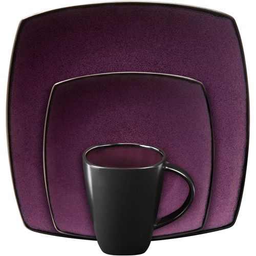 Black and purple dishes. But my kitchen isn\'t purple. But it could ...