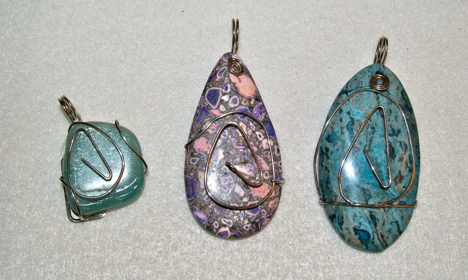 Atheist wire wrapped stone pendant. No god, just science. Perfect ...