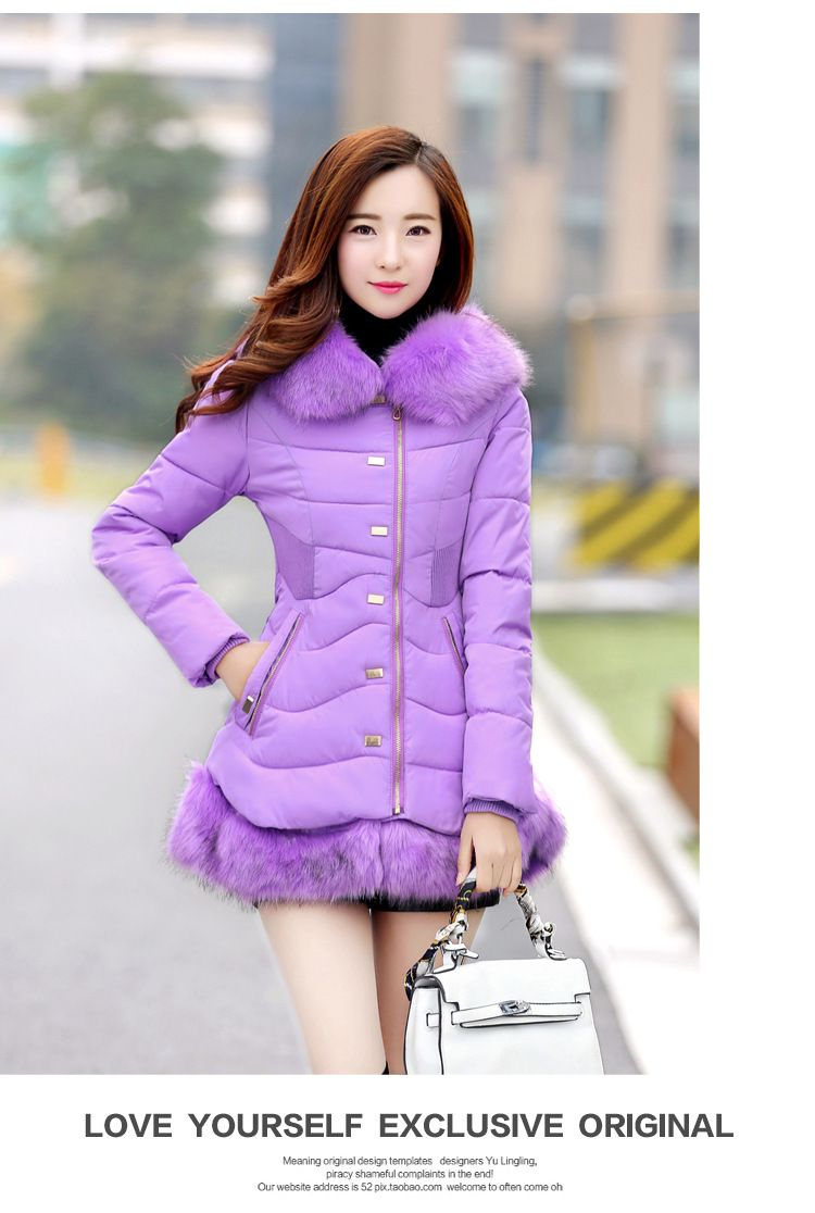 478d423fe2 ZW06 2016 winter coat women Hoodies down jacket mid long coat parkas  thickening Female Warm Clothes
