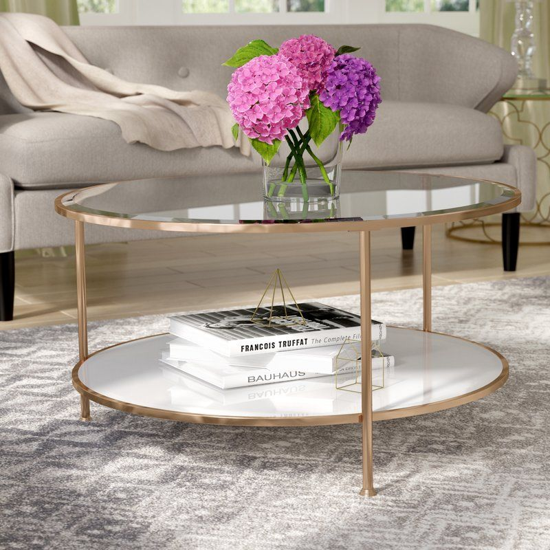 $160 Luxe Looks And A Streamlined Frame Make This Chic Coffee Table A  Living Room Must Have. Made From Stainless Steel In A Rose Gold Hued  Finish, ...
