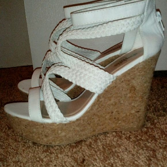 white formal wedges from Charlotte Russe White wedges Charlotte Russe Shoes Wedges