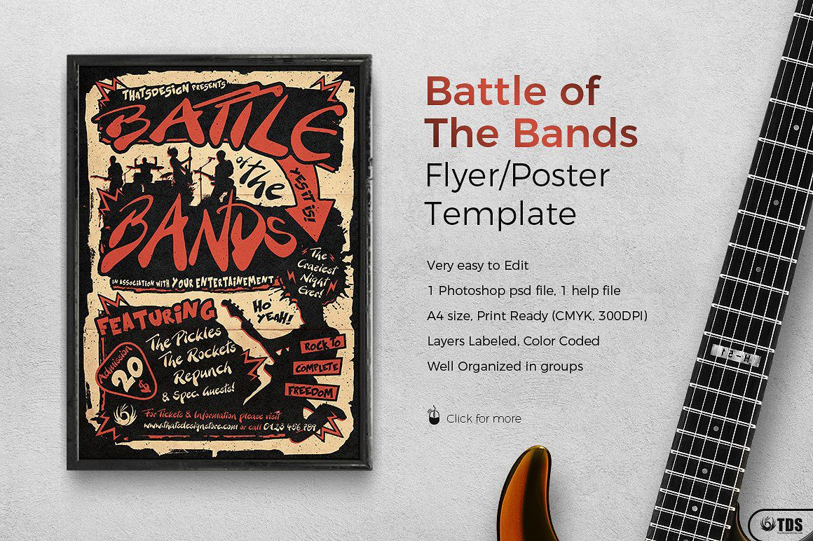 Battle Of The Bands Flyer Template  Flyer Template And Psd Flyer