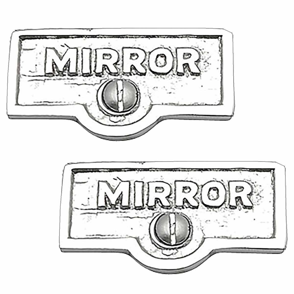 2 Switchplate Chrome Over Brass Mirror Switch Tag Chrome 1