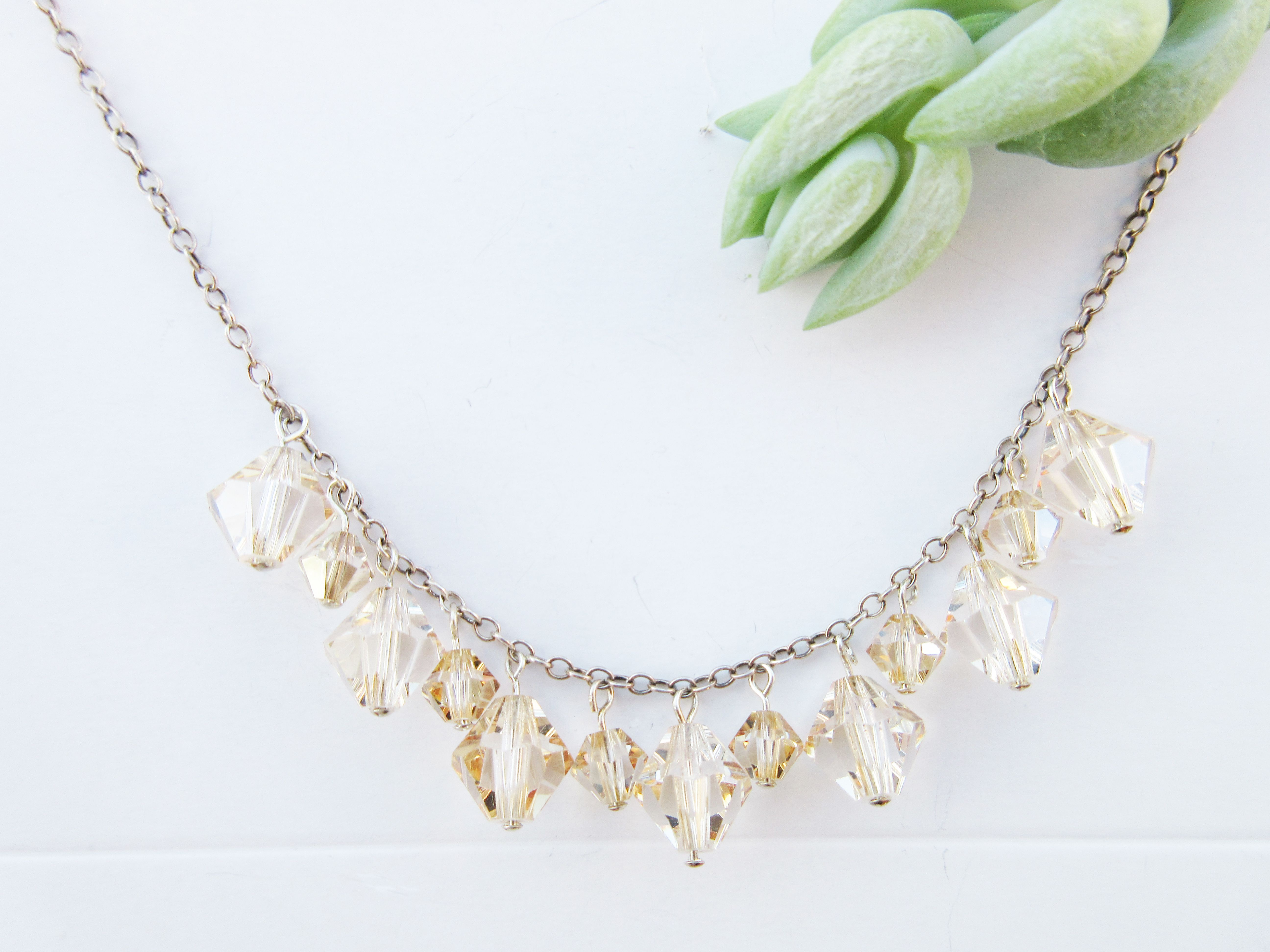 Simone Swarovski Crystal Bridal Necklace Bridesmaids Necklace