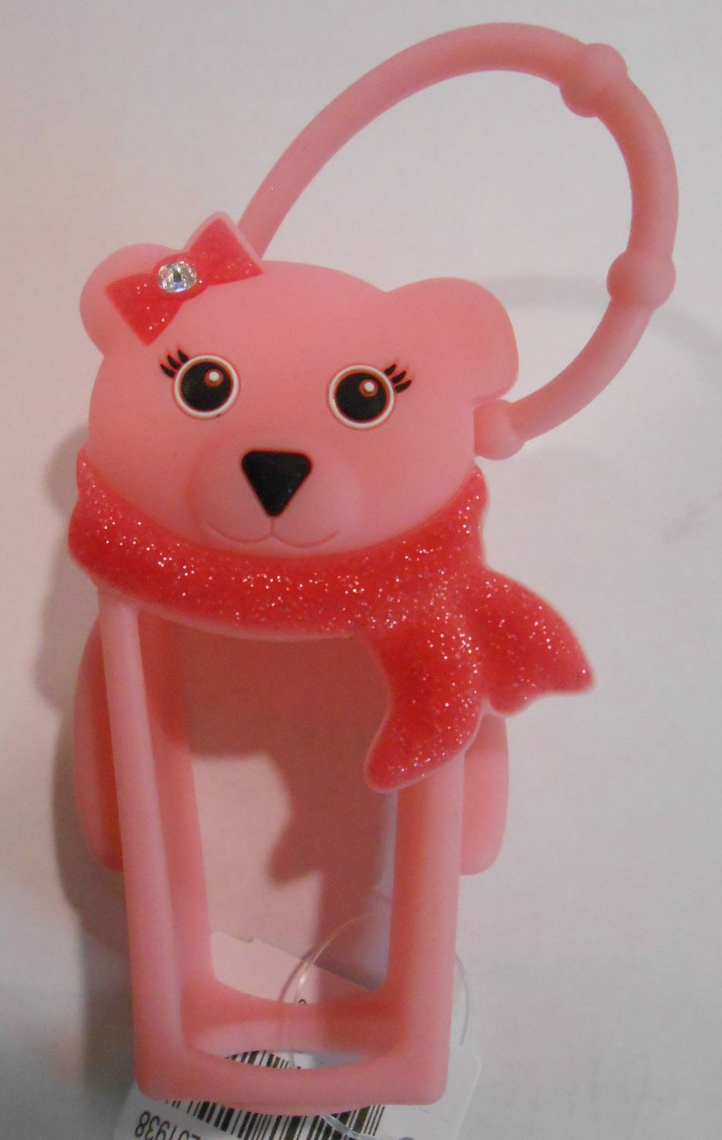 Bath Body Works Pocketbac Holder Pink Holiday Bear For Hand