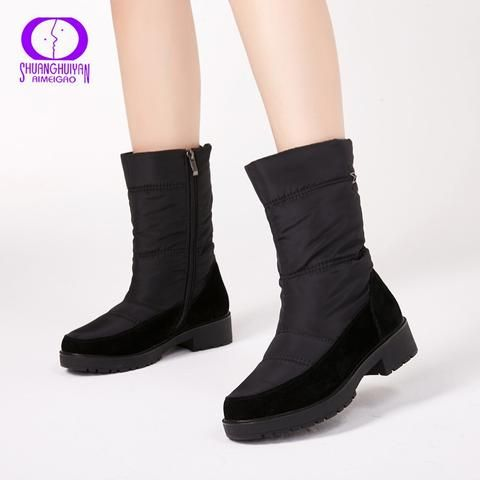 7524be2b42c AIMEIGAO 2018 New Snow Boots For Women Winter Fur Warm Boots ...