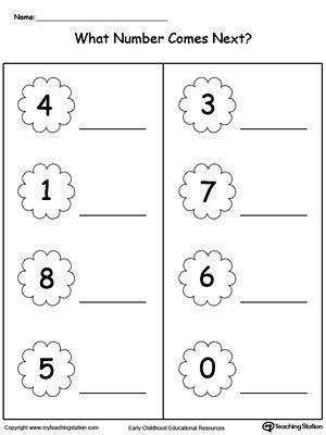 What Number Comes Next Number Worksheets Kindergarten Lkg Worksheets Preschool Math Worksheets