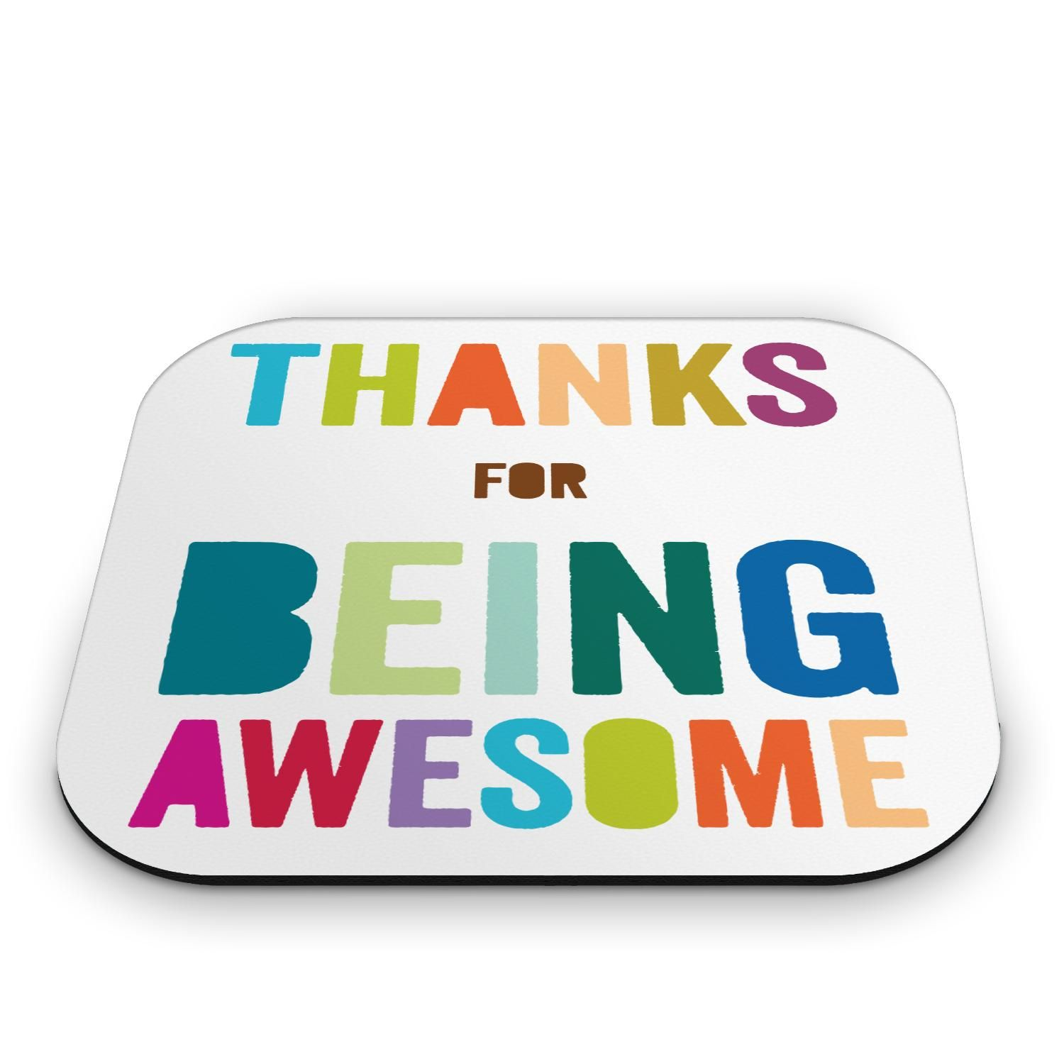Employee Appreciation Quotes Thanks For Being Awesome Mouse Pad  A Great Desk Accessories And