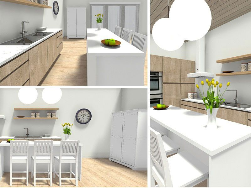 Different Views Of A Kitchen Design Created With Roomsketcher Home Designer Country Kitchen Designs Kitchen Design Kitchen Design Plans Plan your kitchen with roomsketcher