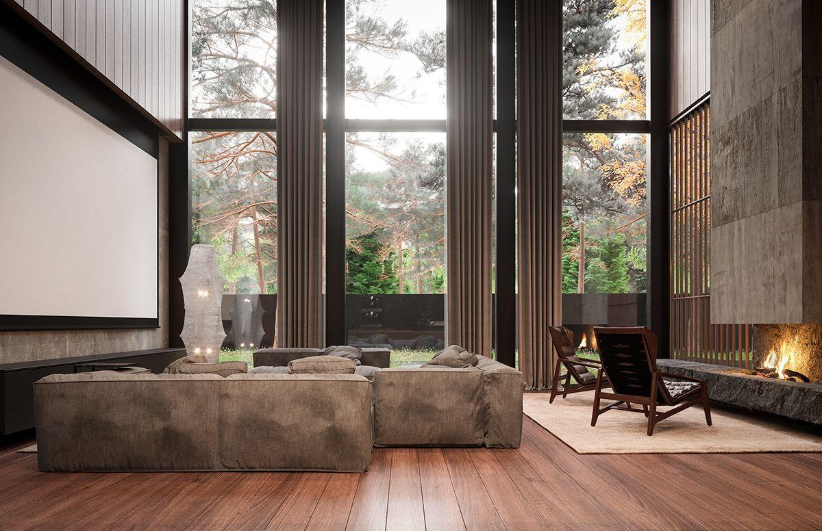 Roma House Interior Buro511 On Behance Modern Rustic Homes
