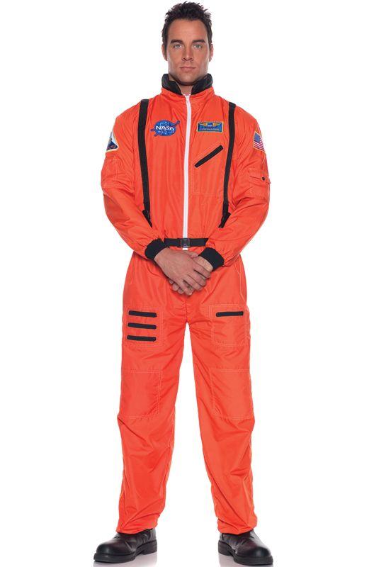 Aerospace Astronaut Plus Size Costume (Orange) (With ...