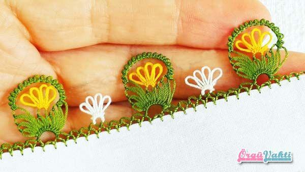 İğne Oyası Fiyonklu Palyaço Çiçeği Yapılışı Türkçe Videolu