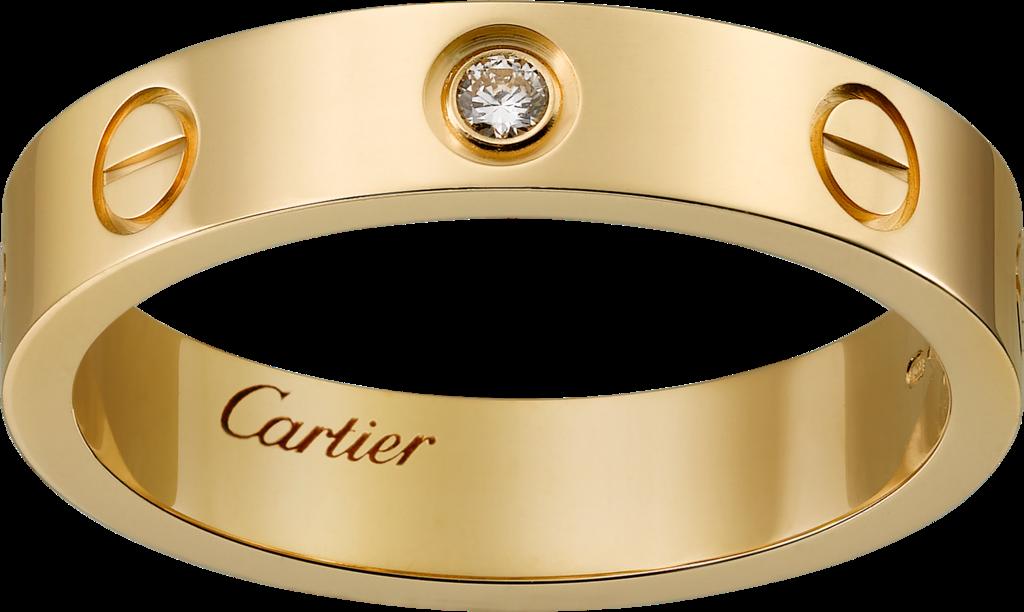Love wedding band, 1 diamond Cartier wedding rings