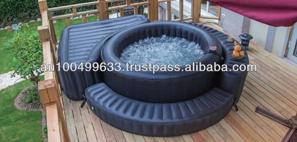 Inflatable Spa Tub With Inflatable Side Decks Spa Hot