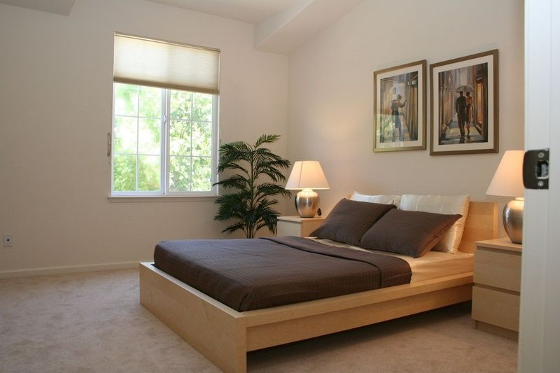 Malm Bed Frame With Luroy Slatted Bed Base High White Stained