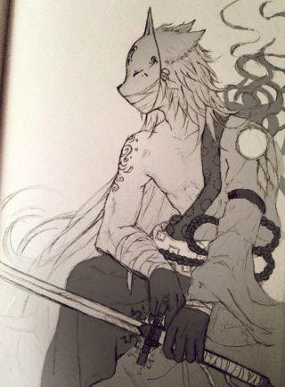 My Oc Ryuchin Originally He Wears A Demon Mask But I Thought A