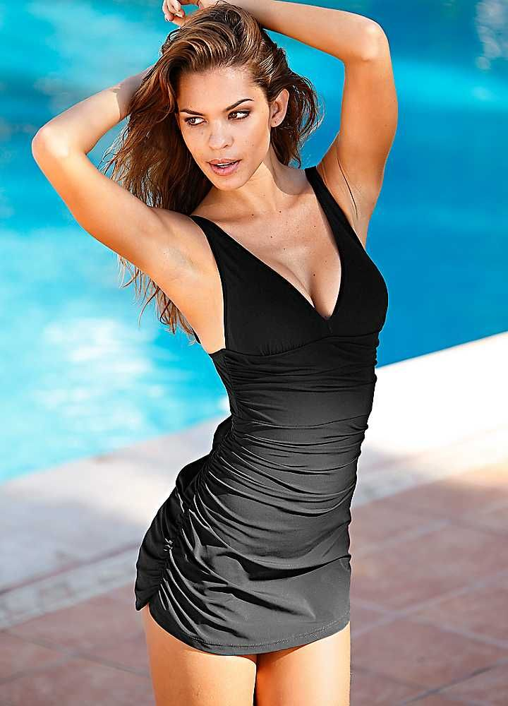 cf8ca2e688 Shaper Swimdress - Soft cup swimdress with inbuilt shaper for a flattering  figure with ruche detail. We love this!  freemansswimwear