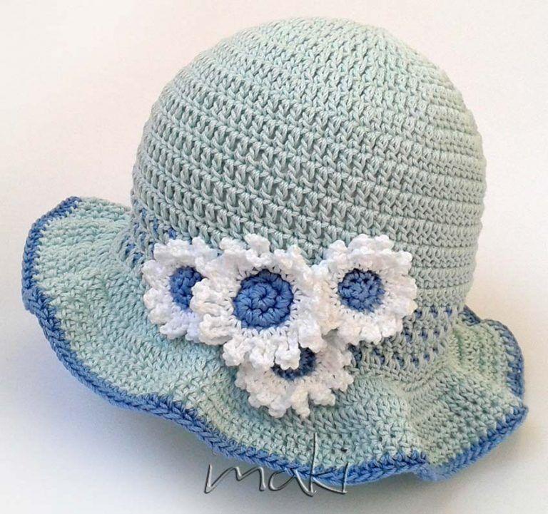 3808c91745711 FREE CROCHET PATTERN: Fancy baby hat - Maki Crochet Patterns ...
