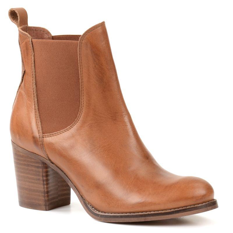 online retailer 4acb7 01fe8 Chelsea Boots mit Blockabsatz - cognac | Mode in 2019 ...