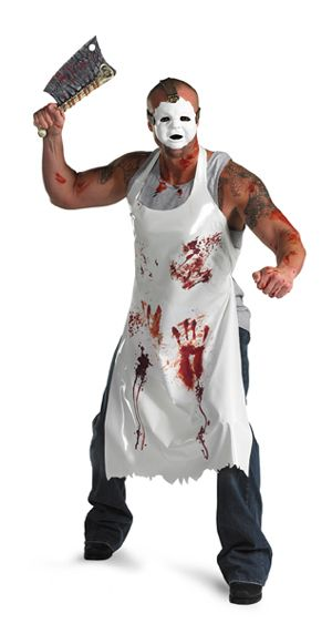 Bloody Butcher This is going to be Joshua\u0027s costume minus the mask - halloween horror costume ideas