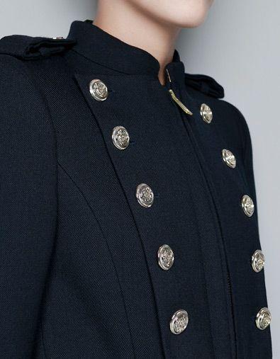 Abrigos y chaquetas militar Zara Negro para Mujeres | eBay