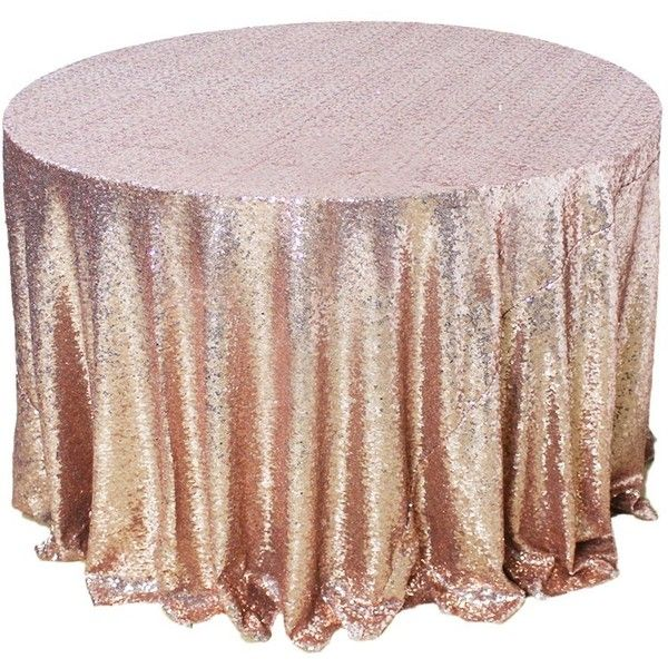 Amazlinen Sparkly Rose Gold Round Sequin Tablecloth 108 Round Rose Gold Table Sequin Tablecloth Rose Gold Baby Shower