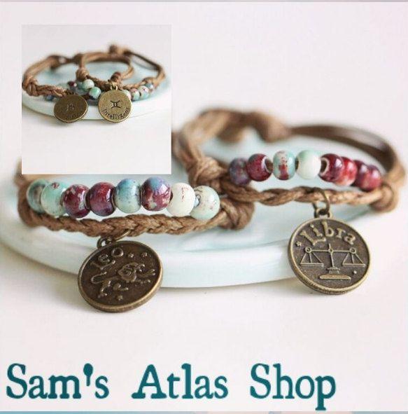 Astrology Bracelets door SamsAtlasShop op Etsy