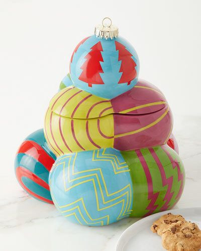 Neiman Marcus Ornament Tree Cookie Jar Cookie Jars Christmas