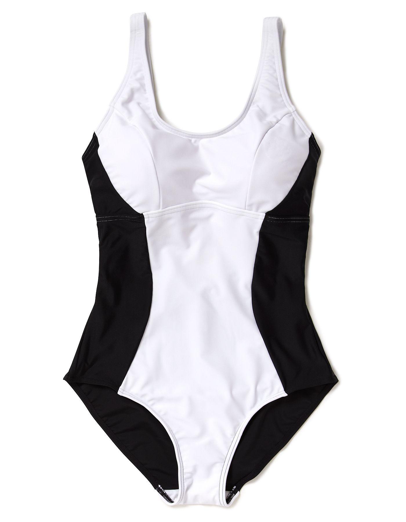 Illusion Slimsuit   White | Women | George At ASDA