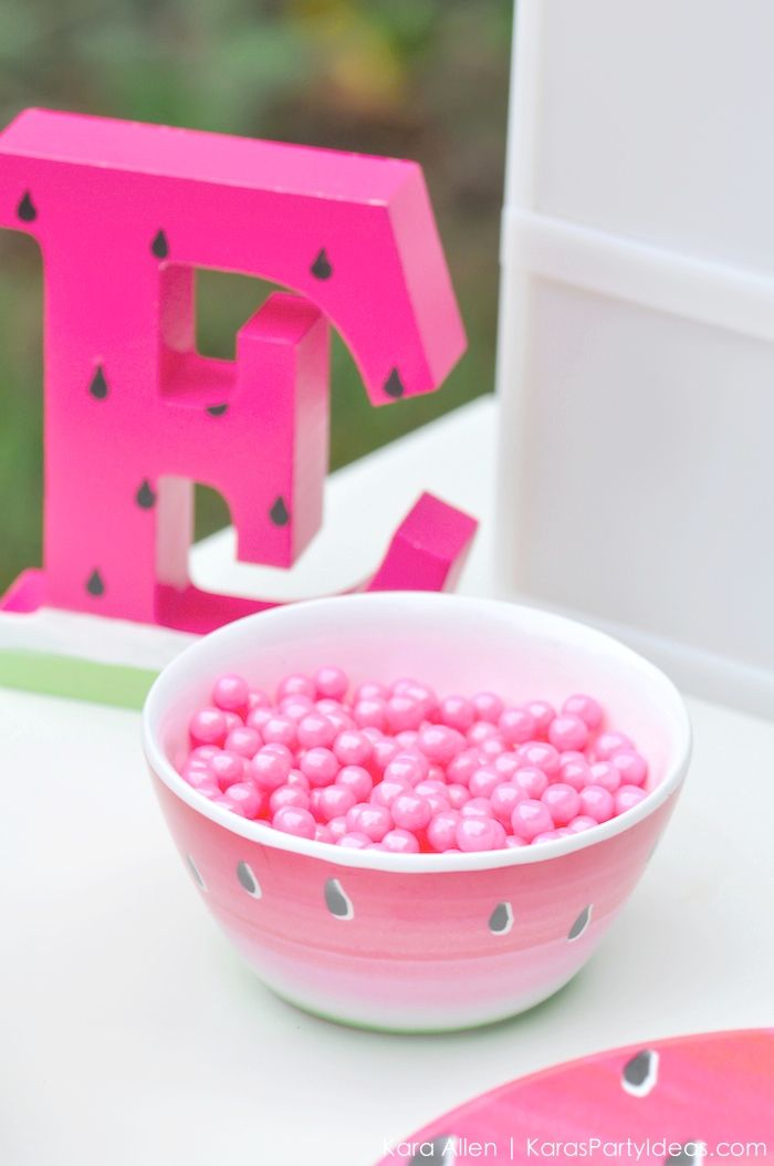Watermelon themed DIY birthday party by Karas Party Ideas Kara