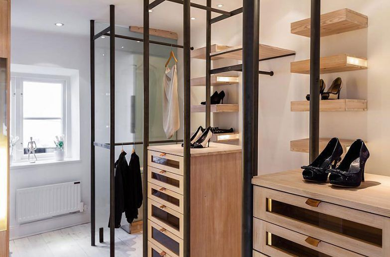 Architecture Scandinavian Walk In Closet Apartment Design And Shoes Shelf With Drawer Attic Apartment Walk In Closet Closet Apartment Walk In Closet Design