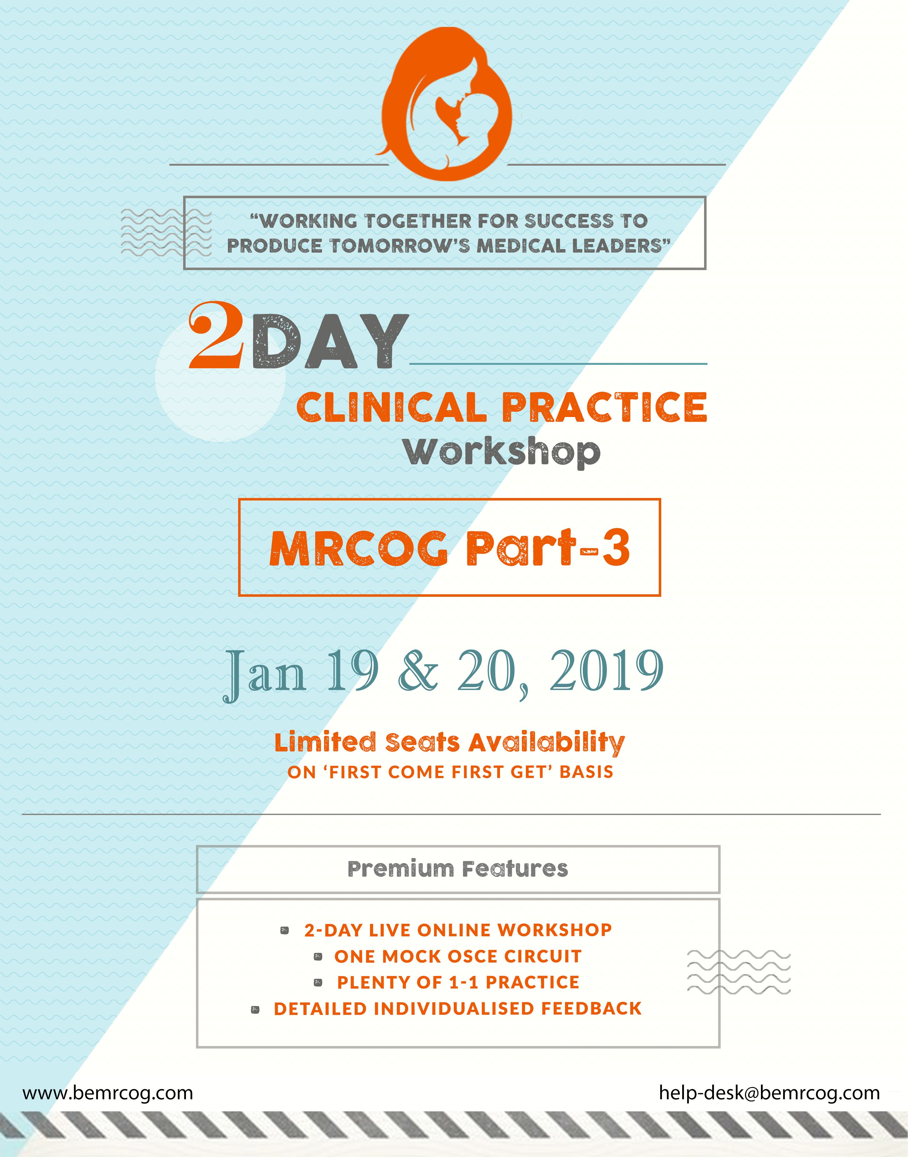 Get yourself SUBSCRIBED to 2-DAY Clinical Practice Workshop #MRCOG