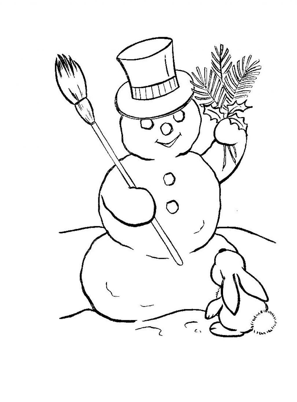 Free Printable Snowman Coloring Pages For Kids | Free coloring pages ...