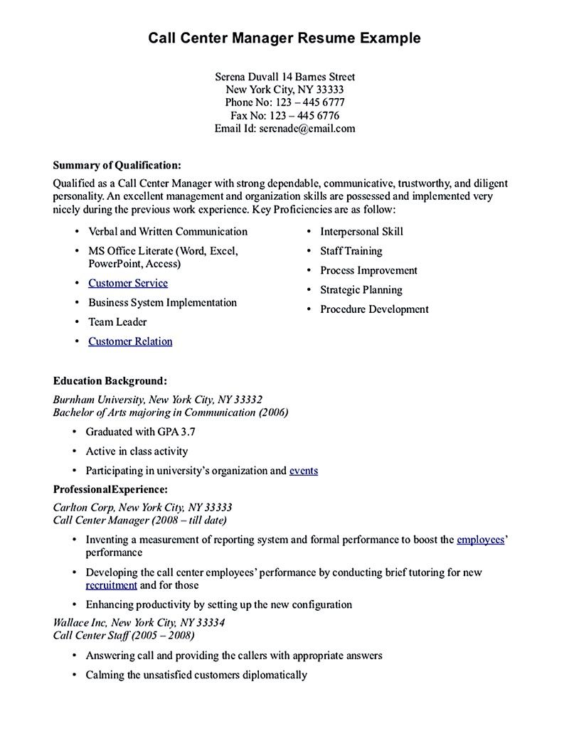 Call Center Job Resume Call Center Resume For Professional With Relevant Experience Needed .