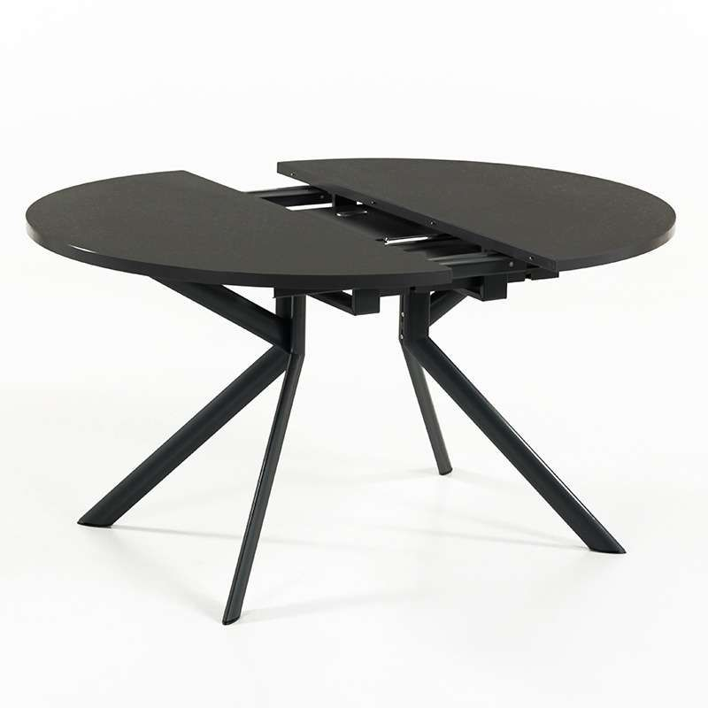 Table Ronde En Ceramique Noire Extensible Giove 10 11 Table Ronde Extensible Salle A Manger Table Ronde Table A Manger Ronde Extensible