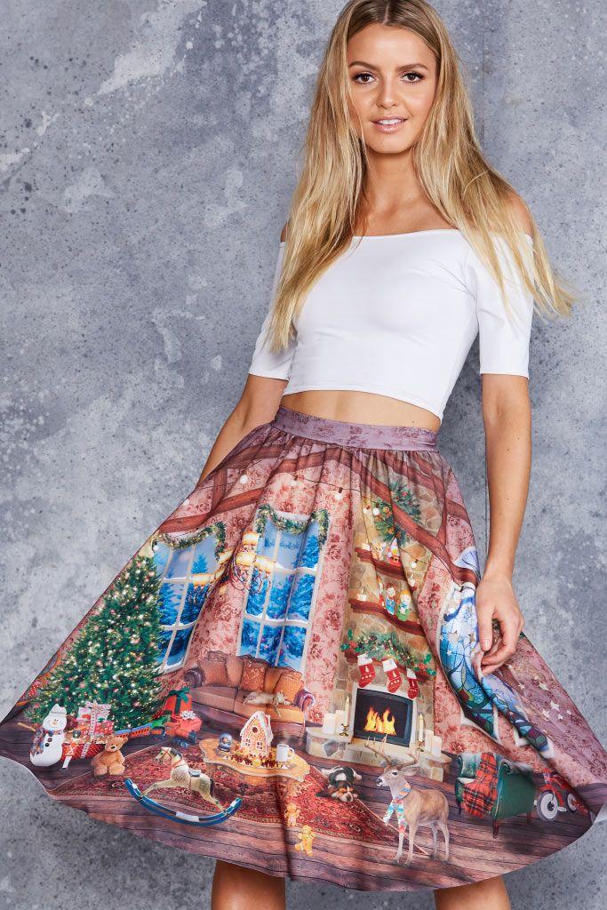 Hide and Peek Pocket Midi Skirt - LIMITED | Christmas, Skirts and ...