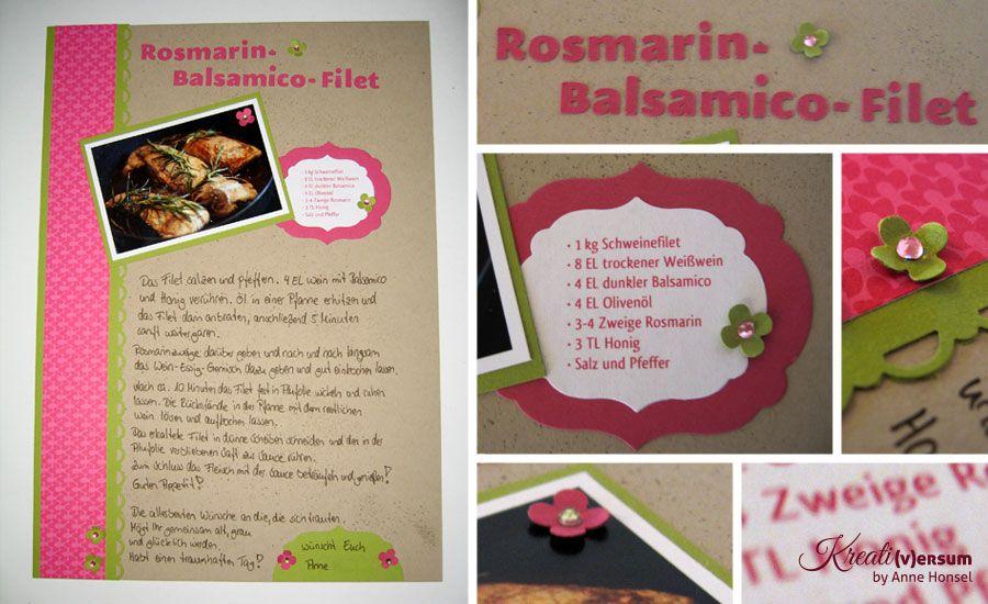 Layout Einer Rezeptseite Rezeptbuch Rezepte Geburtstagsideen